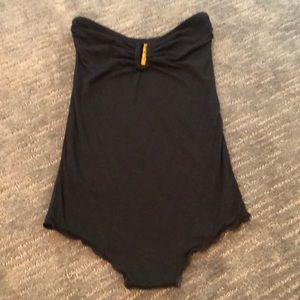 Rachel Pally Black Strapless Bodysuit- XS